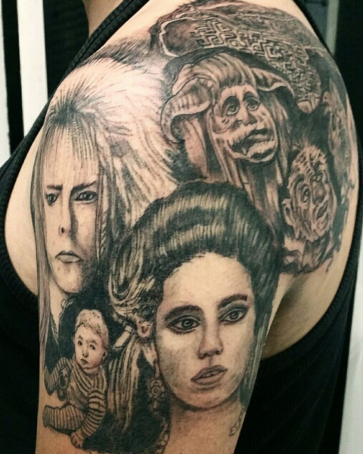 Estudio Coyote Tattoo Alcobendas Madrid España tef: 916639718 Tattoo pelicula el Laberinto. #tattoo #tatuajes #coyotetattoo #tattoocolor #tattoofamosos #tattoofamous  www.coyotetattoo.com