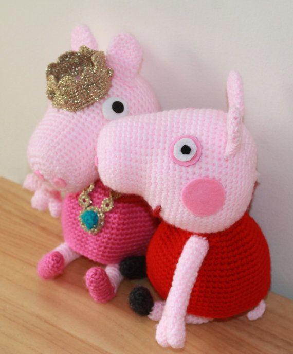 Patron Amigurumi Peppa Pig Grande : Poupee Peppa Pig et princesse crochet patron Modeles de ...