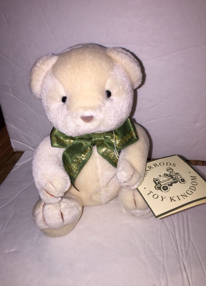 "Vintage HARRODS Teddy Bear ~ Mini Size 6"" ~ With Hang Tag ~  