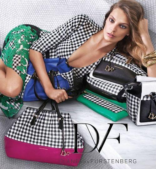 Daria Werbowy w kampanii Diane von Furstenberg wiosna-lato 2015, fot. mat. prasowe