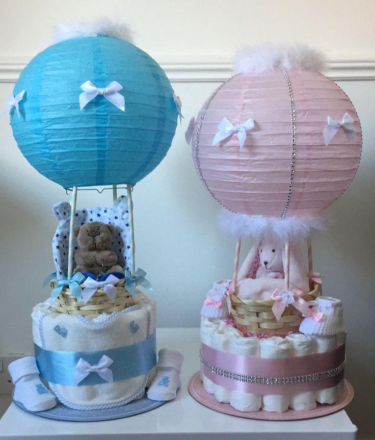 Hot Air Balloon Nappy Cakes Balloon Cakes Nappy
