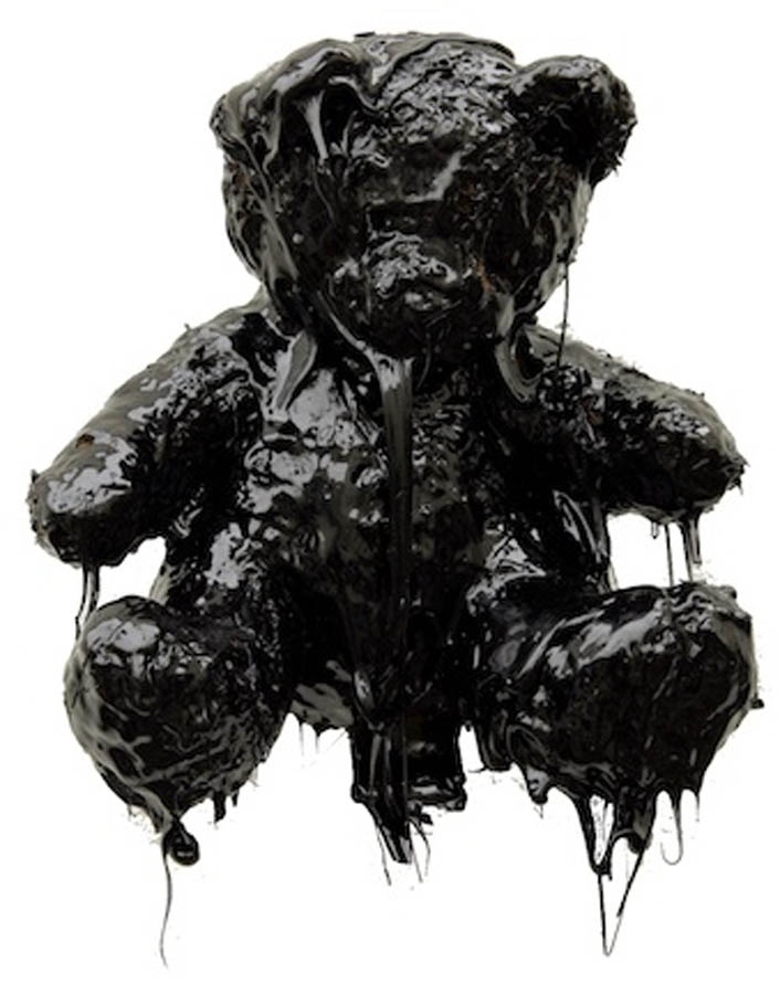 Black Tar Teddy Bear