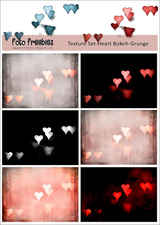 For Valentine's Day Creations and creative photo Art!  A Free Heart Bokeh Photography Texture Set Download from The Foto Freebies Blog.