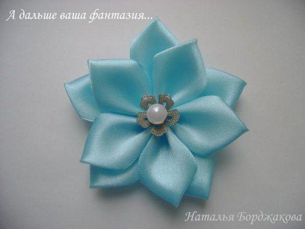 Цветок с острыми лепестками. Канзаши. Мастер-класс - Бижутерия.Украшения