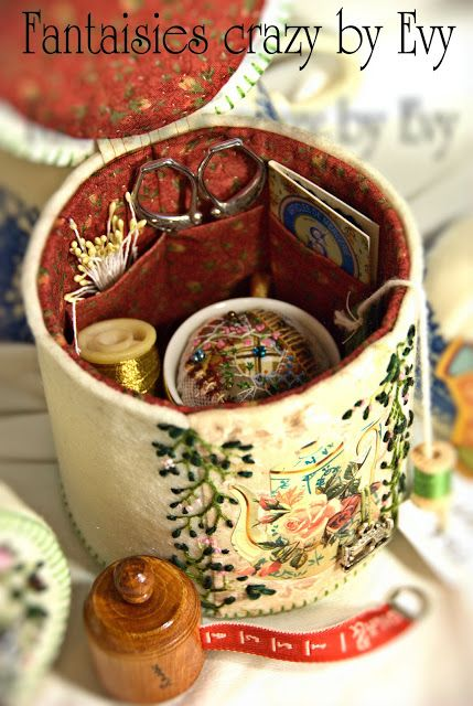 Fantaisies Crazy by Evy: Tea-time de brodeuse/ Tea-time of embroiderer