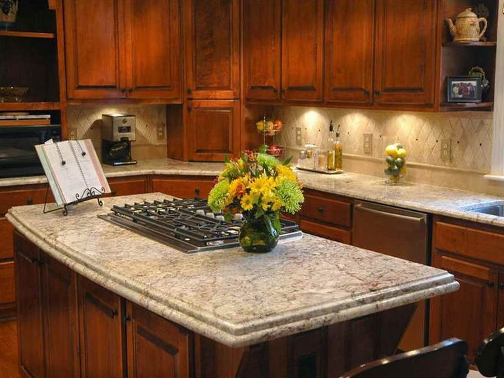 Cherry Kitchen Cabinets And Backsplash