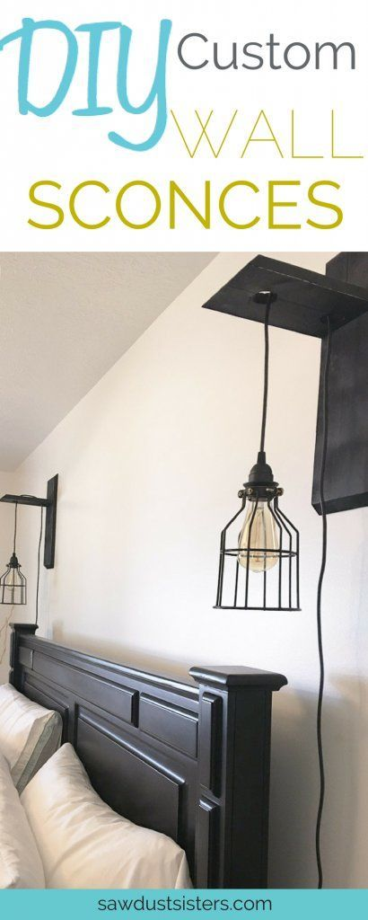 Who needs bedside lamps??? These sconces are SOOO much cuter and super easy to make!