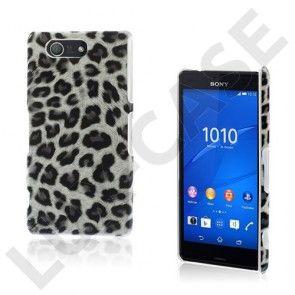 Nature Skin Sony Xperia Z3 Compact Hårdt Cover  - Hvid Leopard