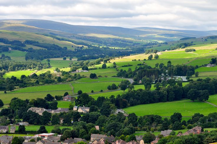 Weardale, overlooking Stanhope, County Durham.