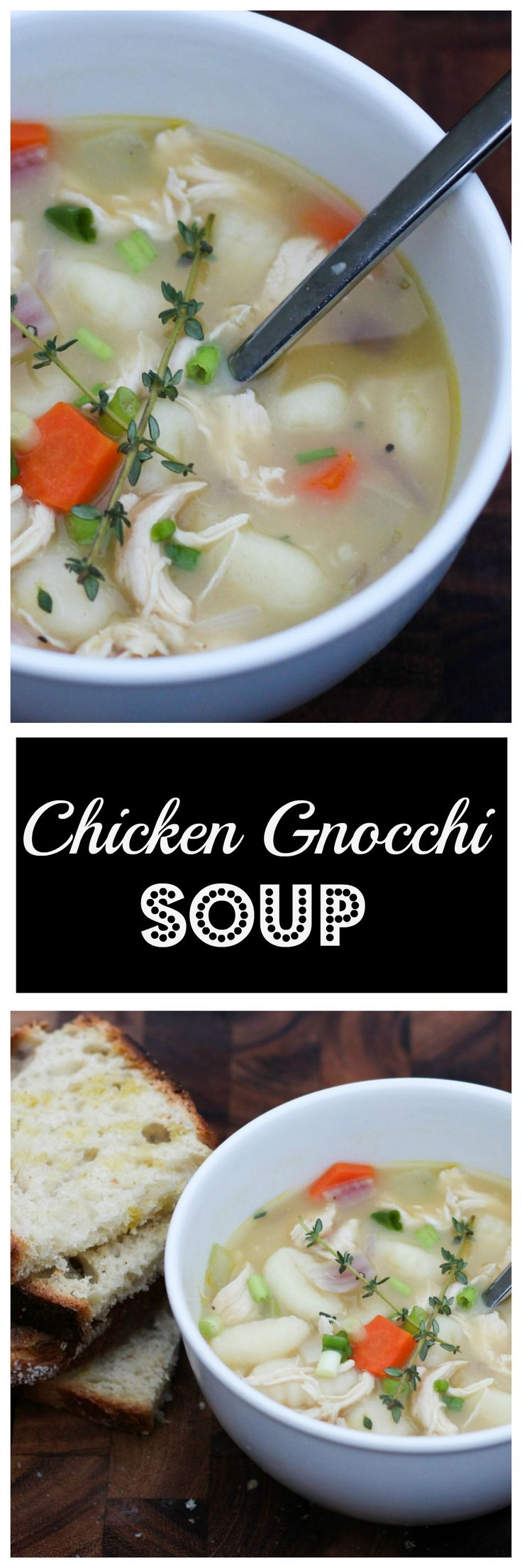 Chicken Gnocchi Soup - A twist on traditional chicken noodle soup. This is the ultimate comfort food!