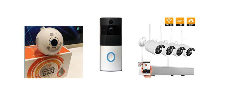 1 x screw tip Light Bulb camera (with Audio) 1 x Video doorbell & 4 x 960P HD security cameras & NVR pack. https://www.gunnedahsecurityservice.com/video-door-bell-security-camera-kit