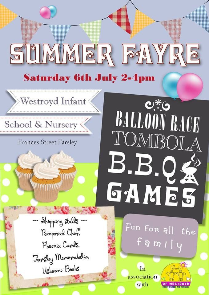 Poster for PTA  summer fair