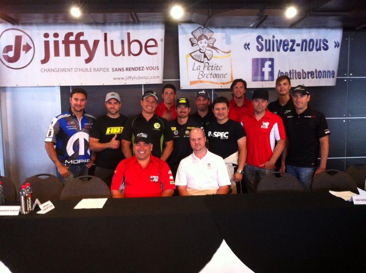 Ce matin, à la conférence du #NASCAR #Jiffylube100! Plusieurs pilotes présents sur place! (3 juillet 2014)