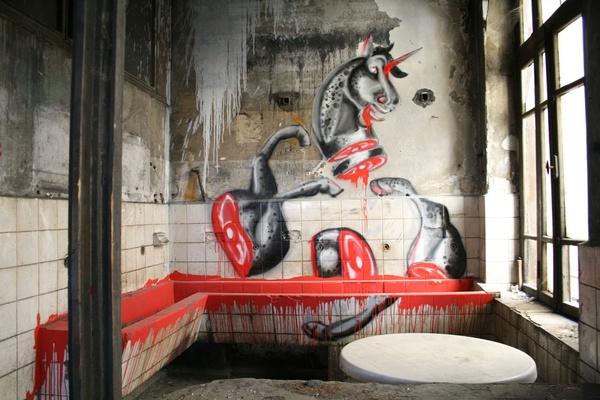 kill all horses (anche se a me sembra un unicorno!): Art Work, Graffiti Artworks, Street Art, Hors Anch, Contemporary Art, Hors Merv, Heart Shardz, Merv Morkoç, Art Art