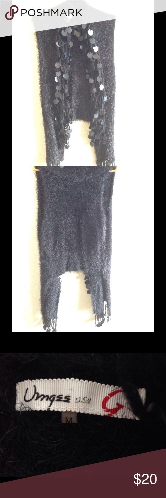 Fringe vest Fringe vest with discs on tassel. Black one size fits all. Umgee Tops