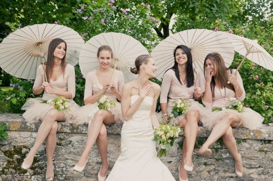 Blush-Bridesmaids-Parasols