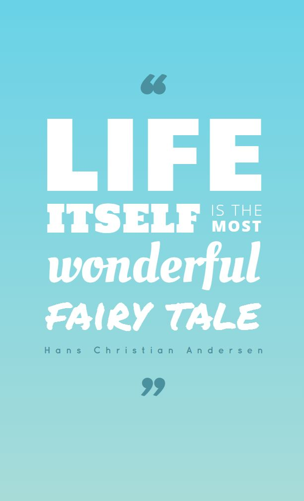 Life itself ... - fully editable poster