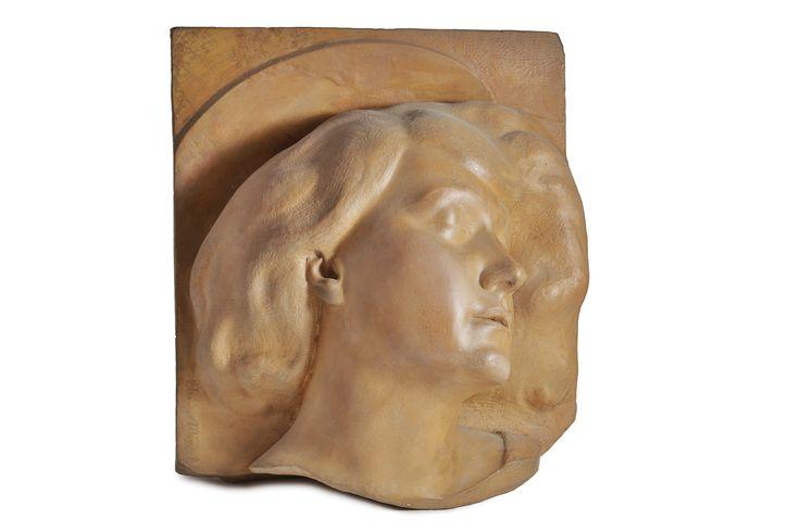 Arrigo Minerbi (1881 - 1960), Santa Cecilia, volto in terracotta-