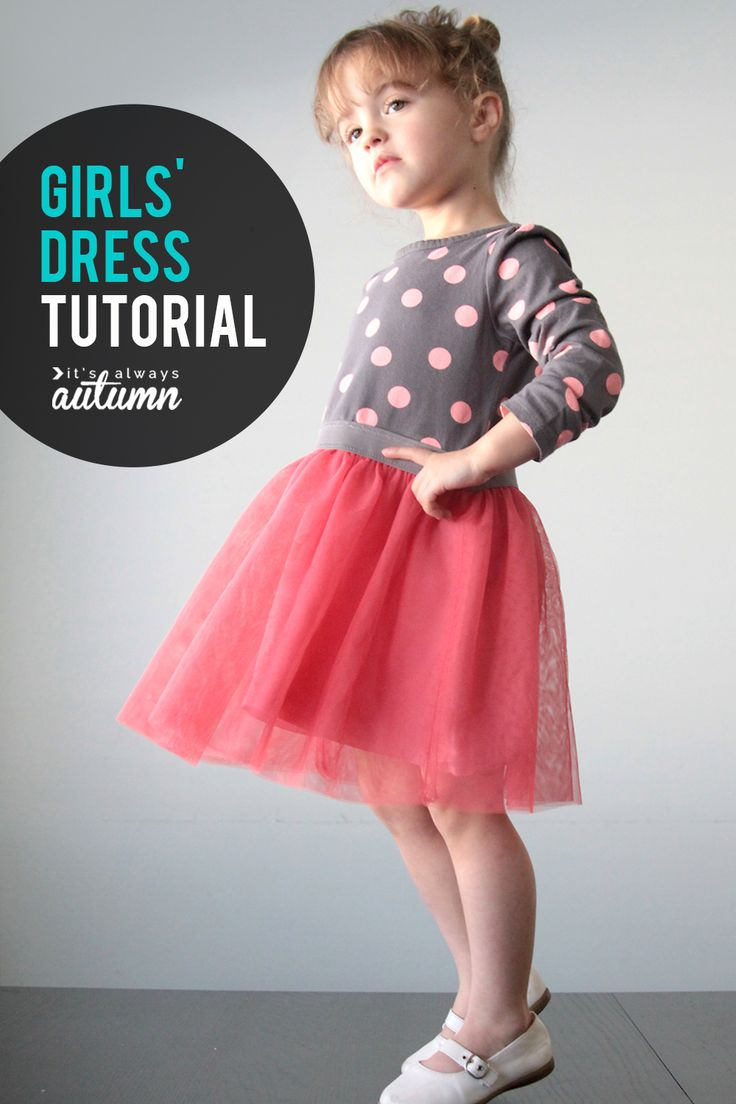 How to make a girls tutu dress from a t-shirt! Easy sewing tutorial for this cute ballet dress.
