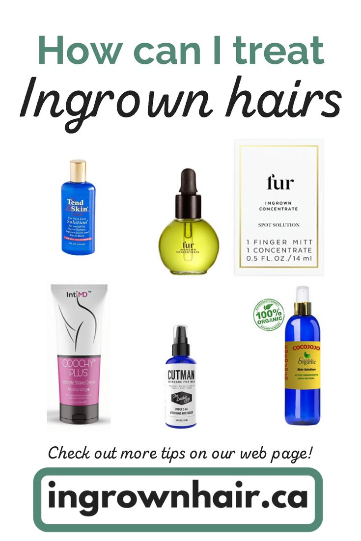 There are so many products used to treat ingrown hairs! Checkout a few of our Favs! #waxing #shaving #ingrowns
