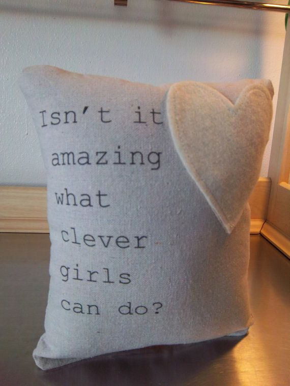 Quote pillow handmade Peter Pan Wendy baby by SweetMeadowDesigns