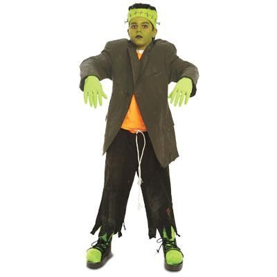 Make this kid's Frankenstein's monster costume for your this year for Halloween.