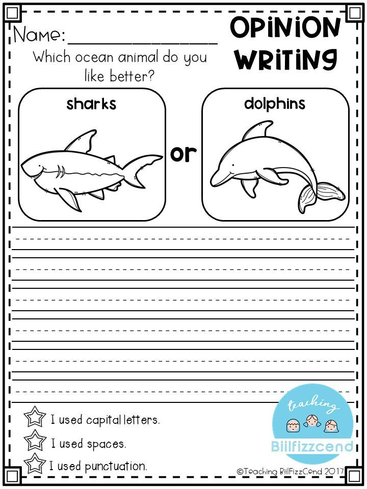 FREE Writing Prompt: Opinion Writing for first grade. This is also great for kindergarten and second grade to build confidence in writing. free writing prompts, freebies, tpt freebies, free kindergarten printables, kindergarten writing, first grade writin