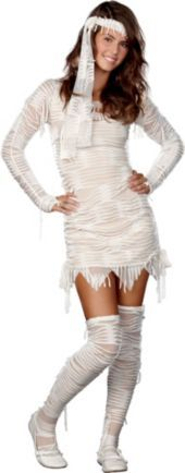 Teen Girls Yo! Mummy Costume  This is what I'm gonna be 4 Halloween:) is it scary enough for you????? :p