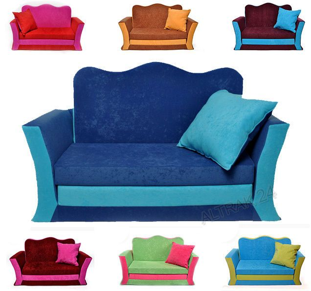 Leather Sofas Children s kids bed baby sofa foam Set in pillow Free P uP and Uk Delivery