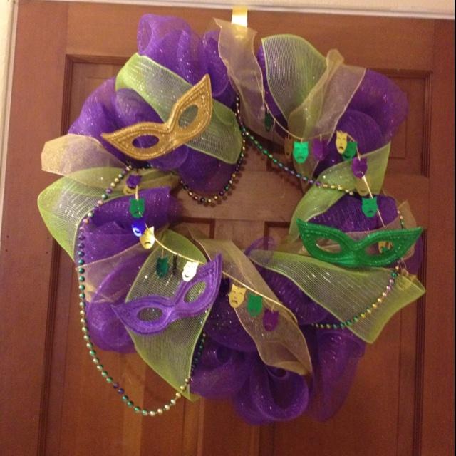 My Mardi Gras Wreath!