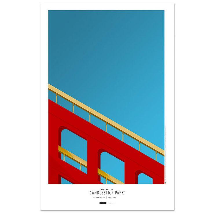 """San Francisco Giants 11"""" x 17"""" Minimalist Candlestick Park Art Poster"""