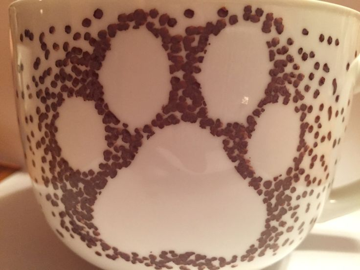 A personal favorite from my Etsy shop https://www.etsy.com/ca/listing/258479189/hand-painted-mug-dog-paws