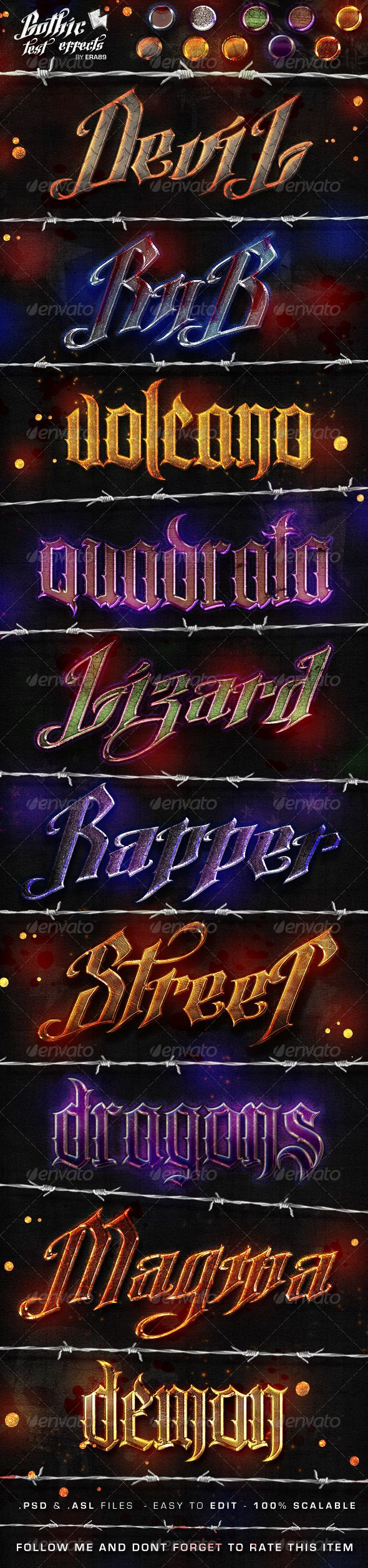 Gothic Text Effects - Photoshop Styles