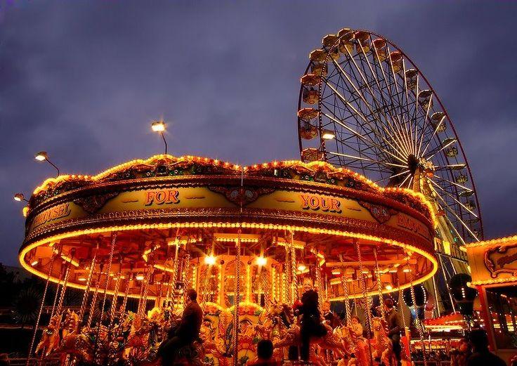 funfair, winter ,Swansea, Wales