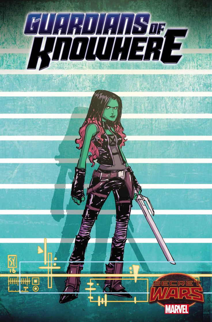 Gamora - Guardians of Knowhere #1 - Variant cover by Skottie Young