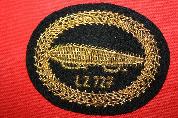 GERMAN LZ-127 GRAF ZEPPELIN BULLION WIRE CLOTH AIRSHIP BADGE NICE QUALITY Khalida Embroidery Works Cotact Us: khalidaeworks@gamil.com Ph:+92-315-7880152