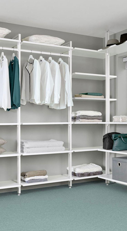Begehbarer Kleiderschrank Weiß U2013 Einfache Wandbefestigung