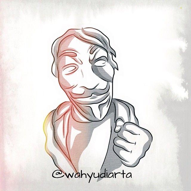Mr EGO #anonymus #adobeideas #art #artwork #artworkoftheday #sketch #illustration #pixlr #wahyudiarta