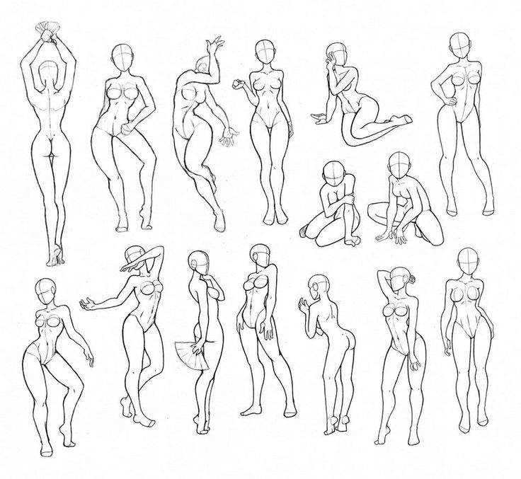 Copy's and Studies: Kate-FoX fem body's 6 by WonderingMind23 on DeviantArt