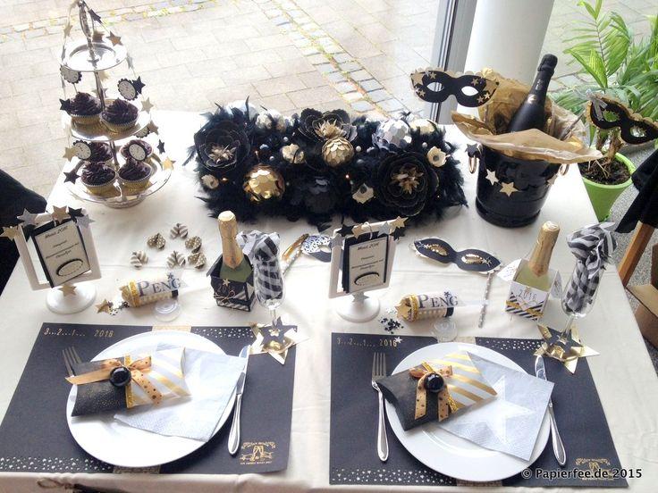 Die besten 25 silvester deko gold schwarz ideen auf for Dekoration tauschen