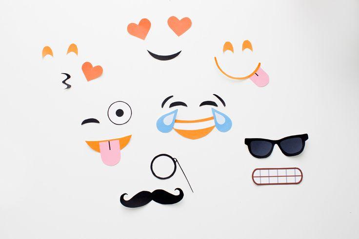 Make DIY Emoji Pumpkins With Our Free Printables! via Brit + Co.