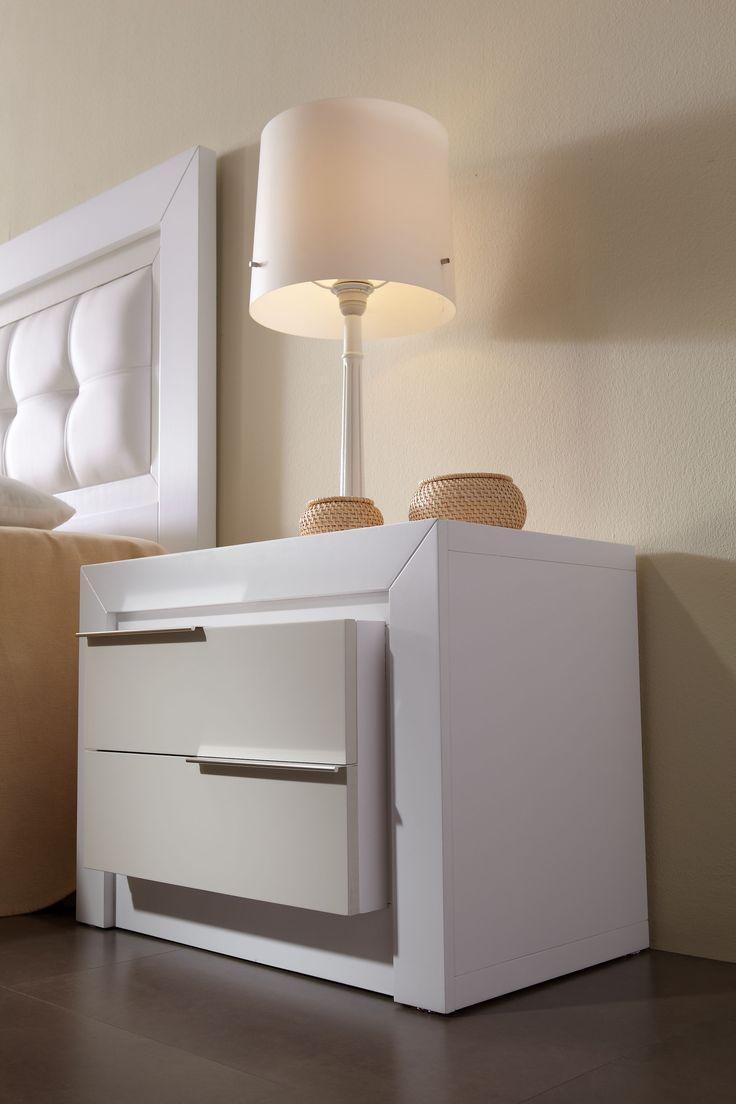 Mesas de noche modernas blancas buscar con google - Mesitas de noche blancas conforama ...