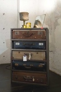Dresser with Suitcase drawers