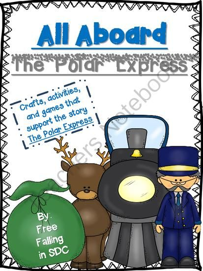 """All Aboard the Polar Express (crafts, activities, & games) from Free Falling in SDC on TeachersNotebook.com (31 pages)  - A great pack to wrap up a unit on """"The Polar Express"""". This pack includes fun crafts, activities, and a bingo game that pertains to the beloved story. All templates are ready to print!"""