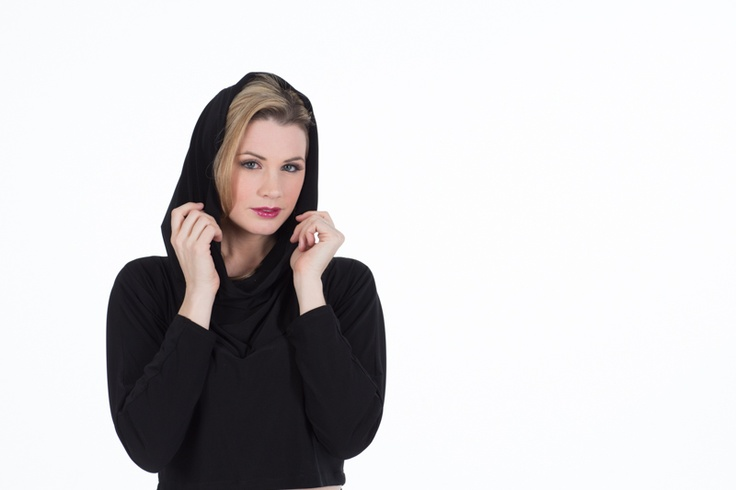 """The """"Upside-Down Dress"""" turned right-side up, into a hooded top!"""