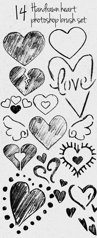 Professional photoshop brush photoshop photoshopbrush photoediting digitalart design creative handdrawn hearts pencil sketch sketched