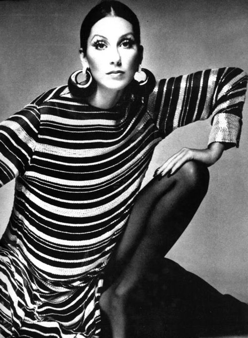 Cher by Richard Avedon Met her - not tall nor pretty, and she was wearing a wig to make her hair fall to her calves. In the 60's we all wanted the look.