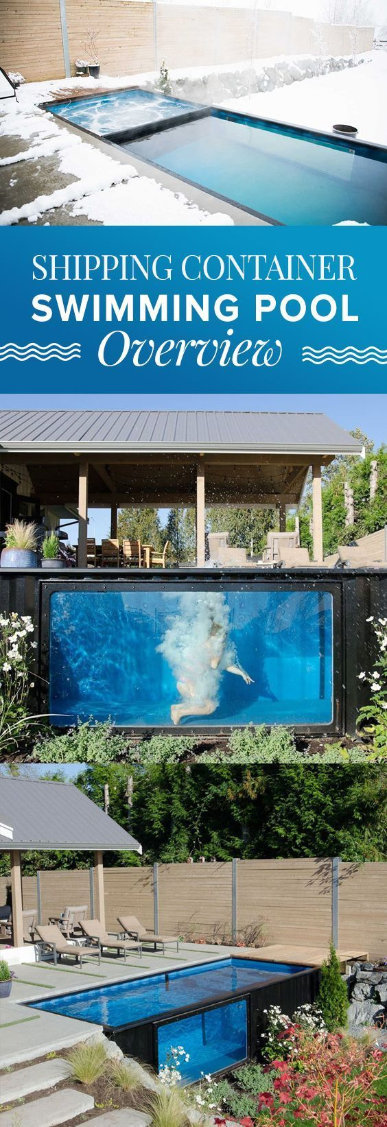 Shipping container swimming pool • and overview and inspiration #FavoriteContainerHomes