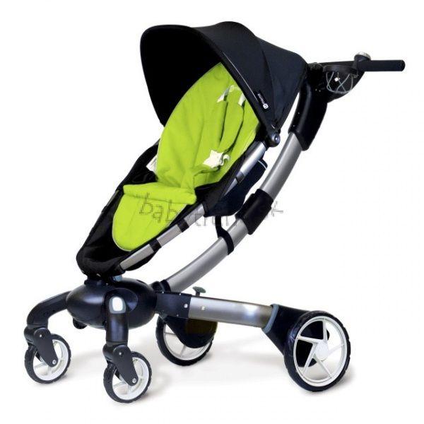 Športový kočík 4moms Origami - S farebnou podložkou Green