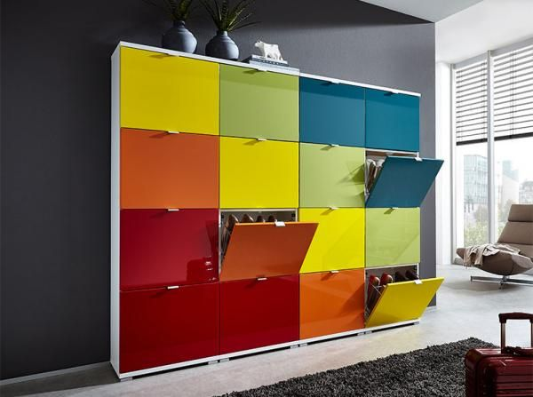 Germania Modern Colorado 16 Door Shoe Cabinet Rainbow Or Choice Of Colour See More At